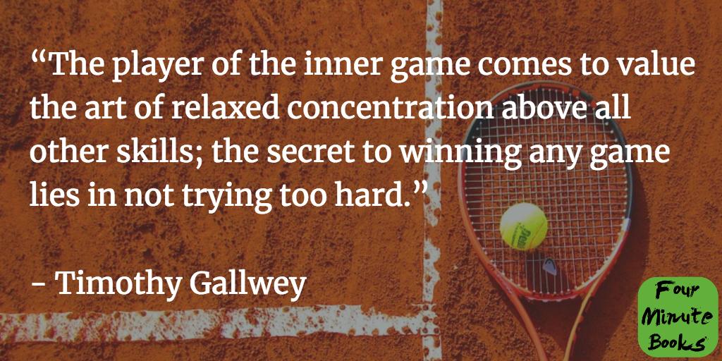 """цитаты из книги """"Внутренняя игра в теннис"""""""